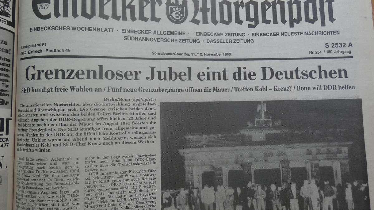 Novembertage vor 30 Jahren in Einbeck - Einbecker Morgenpost